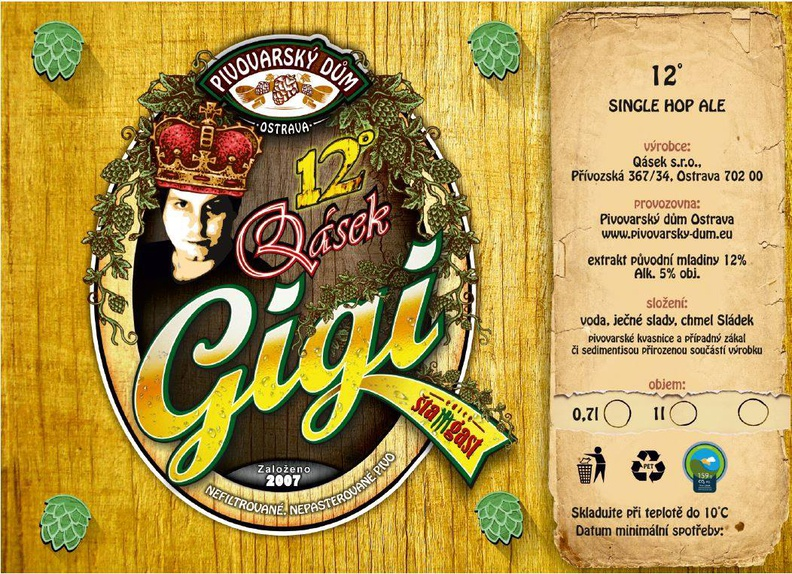 Qásek Gigi 12 - Single Hop Ale
