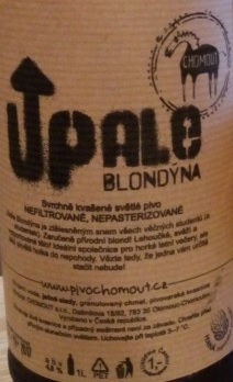 UP Ale Blondýna 11,5 - Blonde Ale