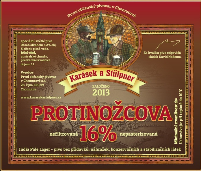 Protinožcova 16 - India Pale Lager