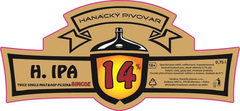 H.IPA Simcoe 14 - IPA, Single Malt & Single Hop
