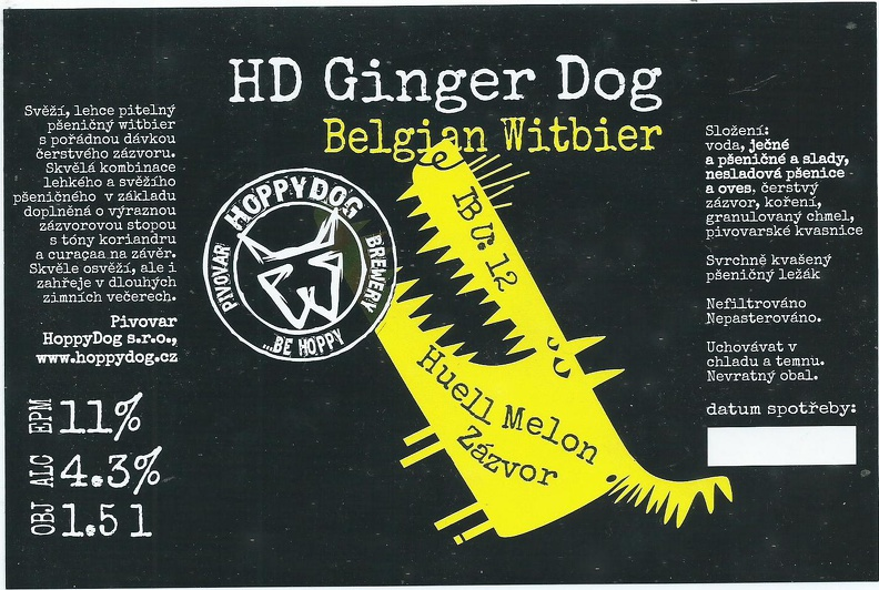 HD Ginger Dog 11 - Belgian Witbier