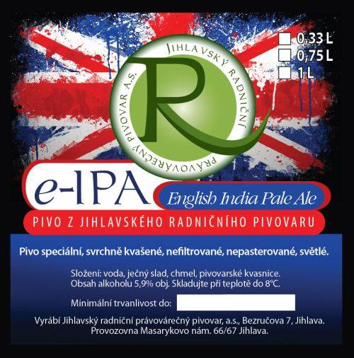 e-IPA 15 - English India Pale Ale