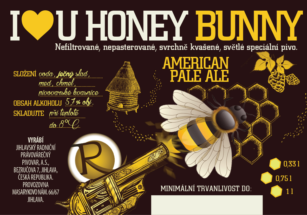 I Love You Honey Bunny 13,6 - medový American Pale Ale
