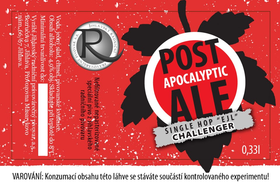 Post Apocalyptic Ale Single hop Challenger 12,7 - Pale Ale
