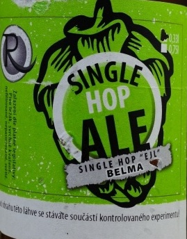 Single Hop Ale Belma 12,2° -  single hop, APA