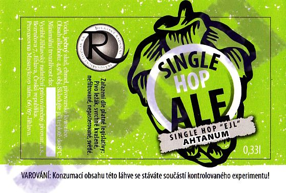 Single Hop Ale Ahtanum 12,4 - single hop, APA