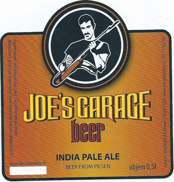 Joe´s Garage IPA 14 - Plzen IPA