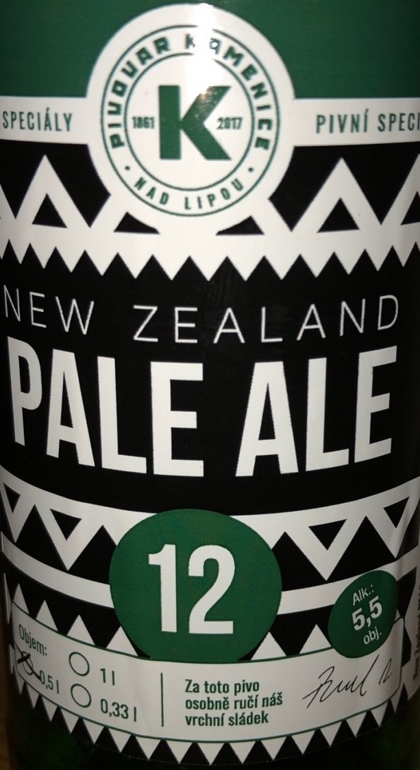 Kamenice New Zealand Pale Ale 12,5