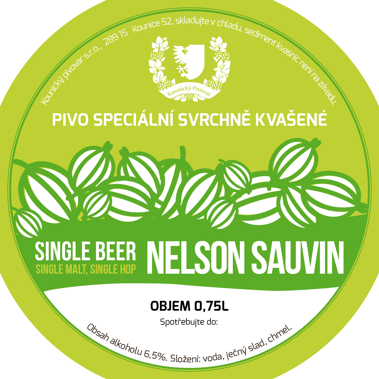 Nelson Sauvin 15 - Pale Ale, single hop, single malt