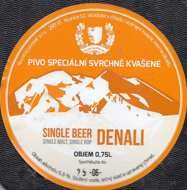 Single Beer Denali - single malt, single hop