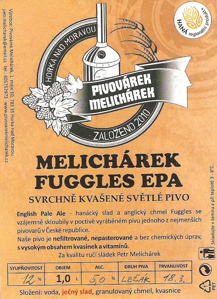Melichárek Fuggles EPA 12 - English Pale Ale
