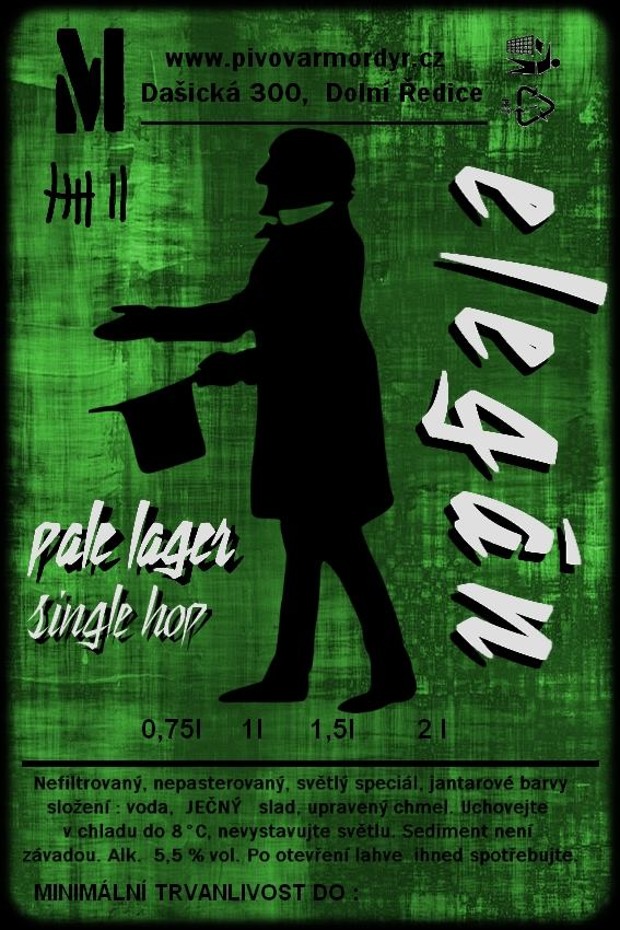 Mordýř Elegán 13 - Pale Lager Single Hop ELLA