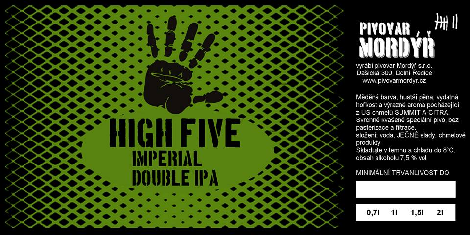 Mordýř High Five 19 - Imperial Double IPA