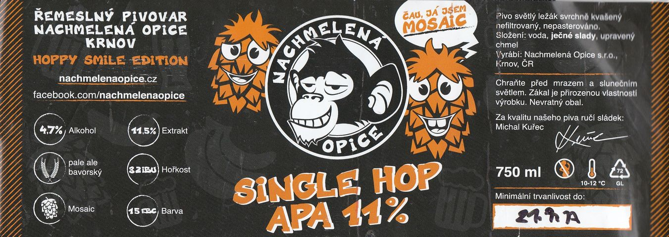 Single Hop APA 11,5° Mosaic