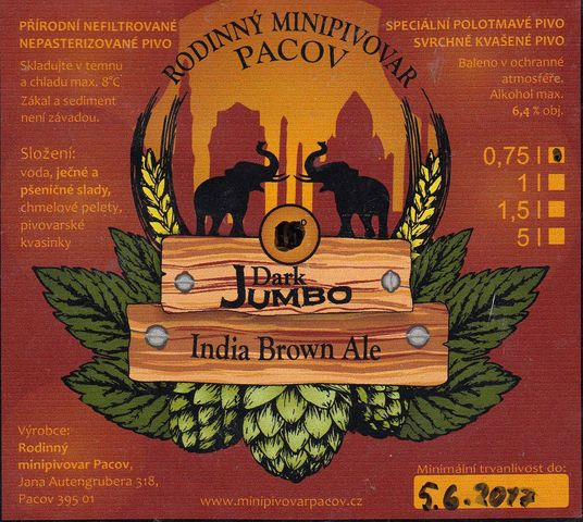 Dark Jumbo 15 - India Brown Ale