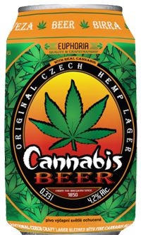 Euphoria Cannabis Beer - Czech hemp lager