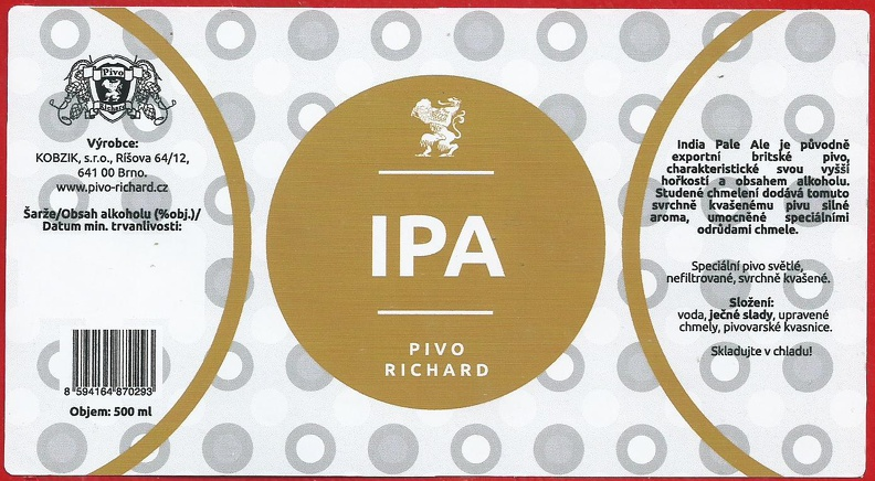 Richard IPA 15 - India Pale Ale