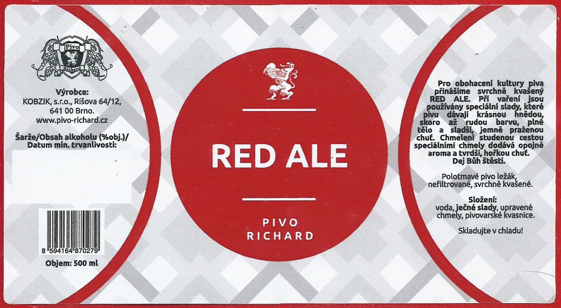 Richard Red Ale 12 - Amber Ale